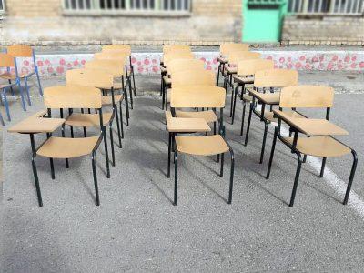 صندلی های دسته دوم دانش آموزی هیرا صنعت