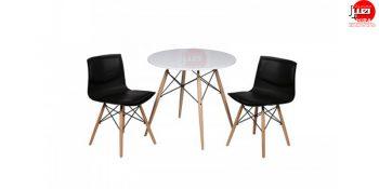 میز دایره ایی پایه افلی -میز نهار خوری - میز عصرانه پایه ایفلی