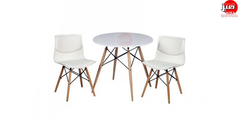 میز نهار خوری - میز عصرانه پایه 2یفلی
