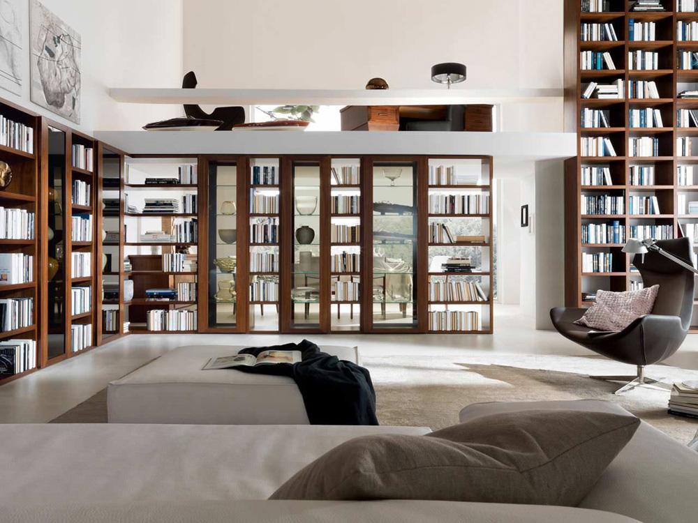 زیباترین و جدید ترین کتابخانه های شخصی منازل