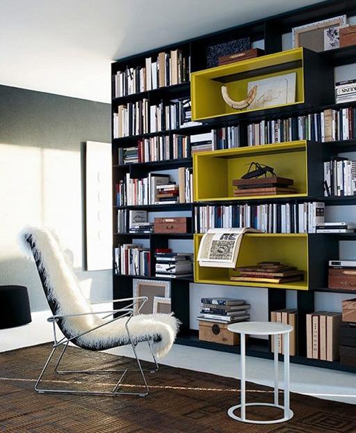 شیک ترین کتابخانه های رنگی مدرن