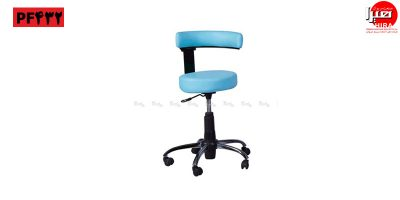 صندلی تابوره زیمنسی با روکش آبی هیرا صنعت مریوان