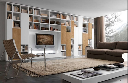 مدل کتابخانه های زیبای مدرن در خانه