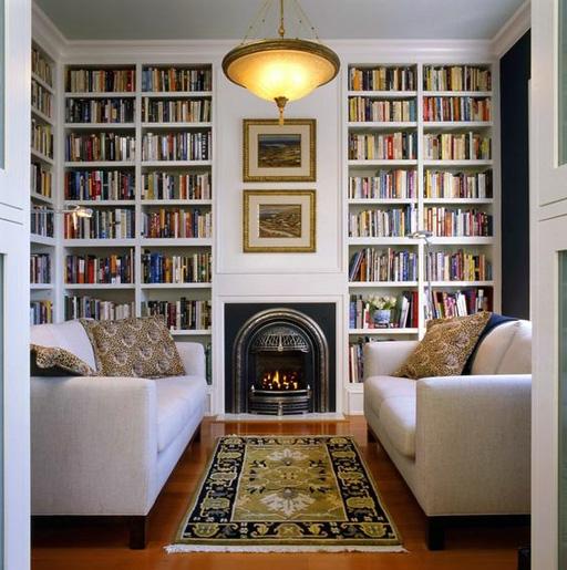 کتابخانه های جادار و زیبا در منازل شخصی