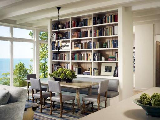 کتابخانه های دیواری زیبا و تک در منازل شخصی