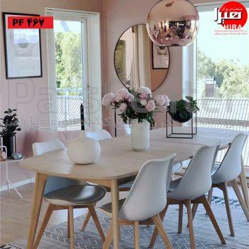 صندلی فایبر گلاس پایه کلاف تشک دار رنگی برای آشپزخانه
